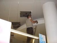 Прокладка кабеля за подшивным потолком