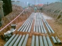 Прокладка кабеля в земле в трубы