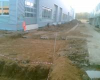 Площадка для поворота кабеля в земле