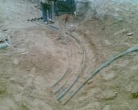 Поворот кабеля в земле