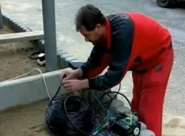 Замер сопротивления изоляции кабеля