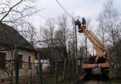 Электромонтажные работы по прокладке воздушной линии электропередач