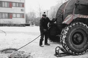 Электромонтаж кабеля в зимний период