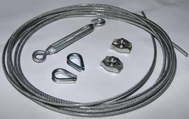 Прокладка кабеля на тросах