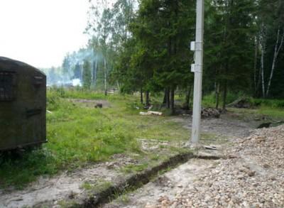 Установка опор воздушной линии электропередач