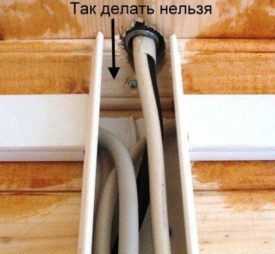 Монтаж кабеля по сгораемым основаниям