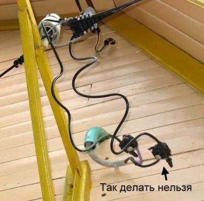 Электромонтаж вводного провода СИП в деревянный дом