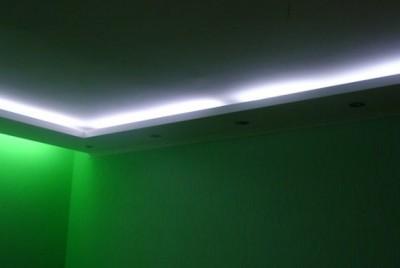 Декоративное освещение питается от краски