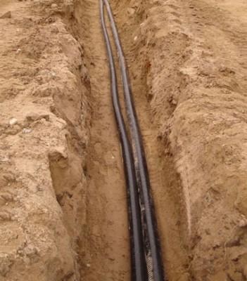 Прокладка вводного кабеля в земле