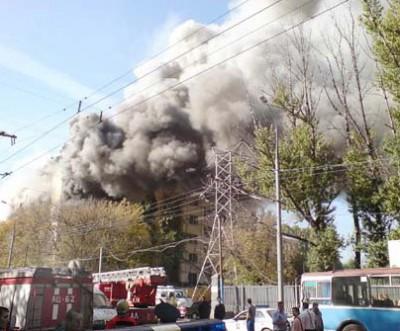 Пожар в московском институте управления