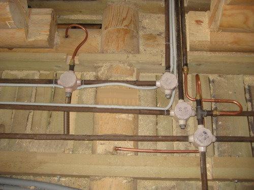 фото монтажа электропроводки - Микросхемы.