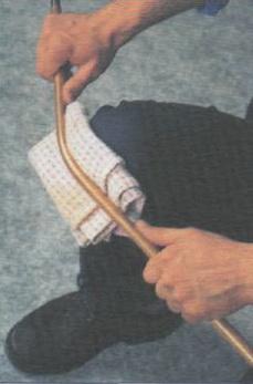 Подготовка к электромонтажу медных труб в деревянном доме