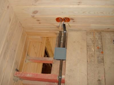Электромонтажные работы по прокладке кабеля в металлических трубах