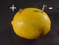 Лимон в качестве аккумулятора