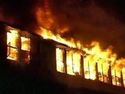 Пожар по причине неисправной электропроводки