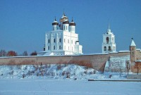 Псковский кремль зимой