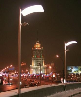 Уличное освещение Москвы