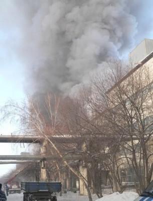 Возгорание на заводе