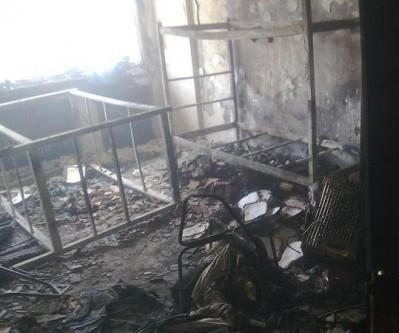 Пожар в студенческом общежитии