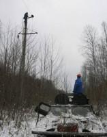 Ремонт линий электропередач в лесу