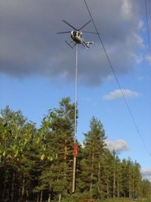 Вертолет с пилой