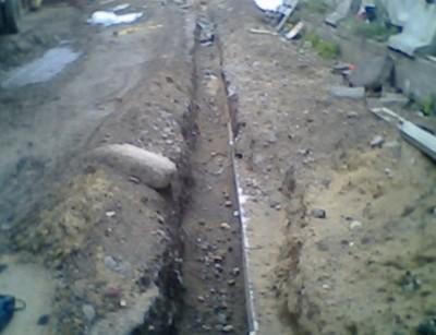 Монтаж кабеля в земле