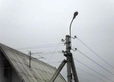 Монтаж уличных фонарей