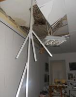 Обрушение потолков может вызвать короткое замыкание