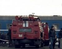 Пожар в поезде из-за короткого замыкания