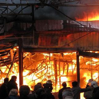 Пожар на фермерском хозяйстве