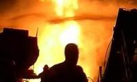 Пожар на заводе в Ярославле