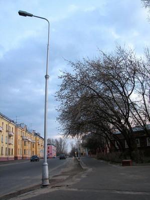 Замена старых уличных фонарей на светодиодные.