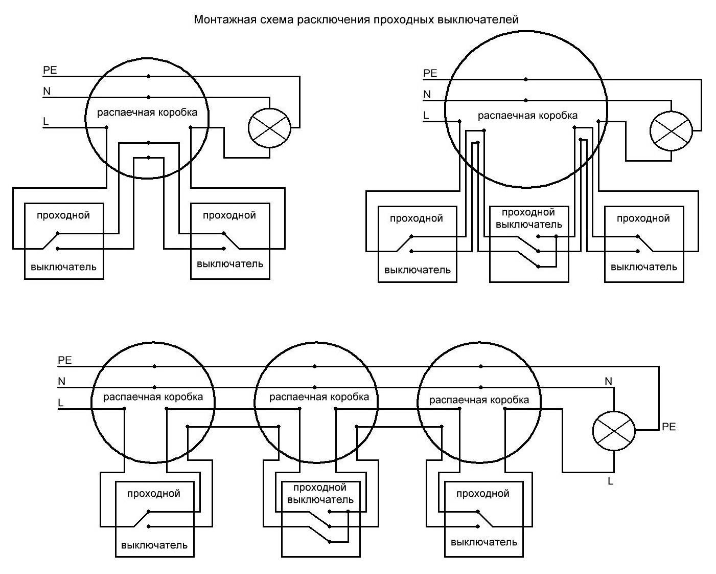 Так Вам должна подойти схема с установкой проходных выключателей или с дополнительным перекрестным.