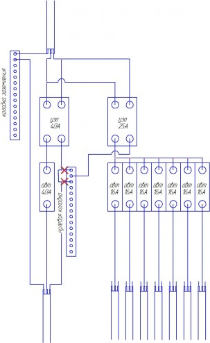 как чертить схемы электромонтажные.