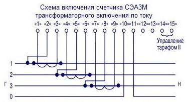 Схема подключения счетчика электроэнергии меркурий 230 с трансформаторами тока