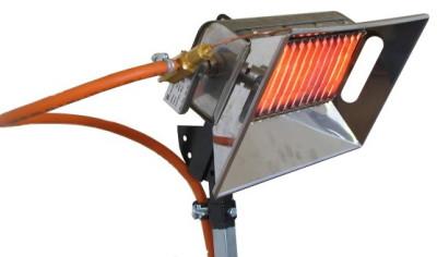 Работа газового ИК обогревателя