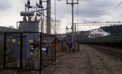Подстанция на железной дороге
