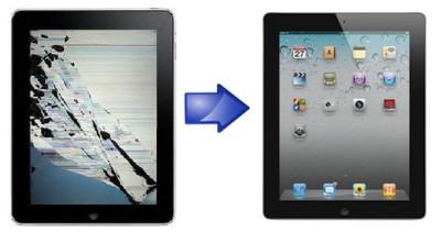поменять стекло на iPad
