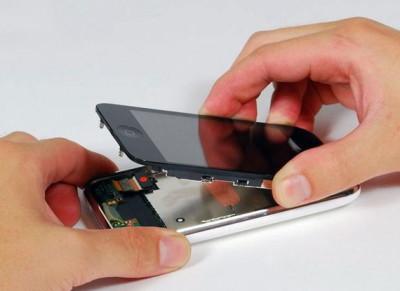 снять дисплейный модуль на iphone