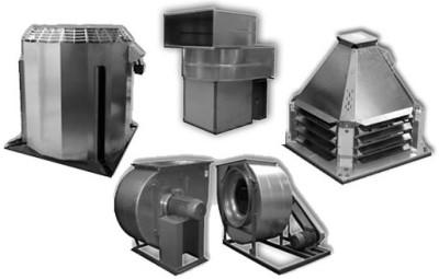 большое количество модификаций крышных вентиляторов