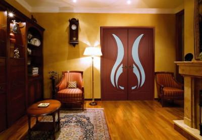 Шпонированный межкомнатные двери