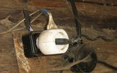 Опасная электропроводка