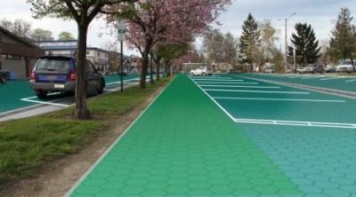 Солнечные панели на дороге