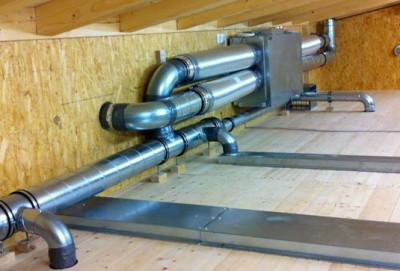 Монтаж системы вентиляции дома