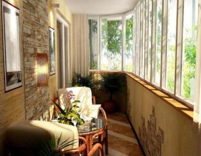 Остекление балкона при помощи алюминиевых профилей