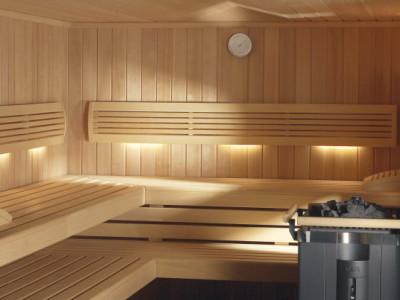 Оповолоконное освещение в баню