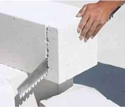 Обработка газобетонных блоков