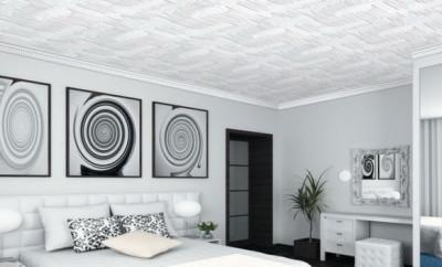 Потолок из пенопластовых плит