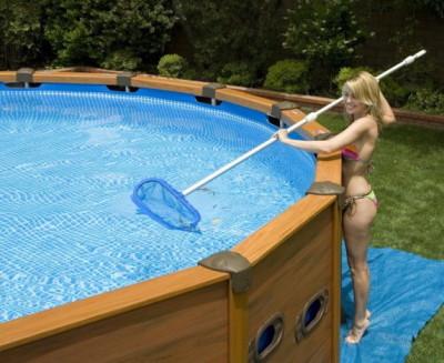 Обслуживание каркасного бассейна
