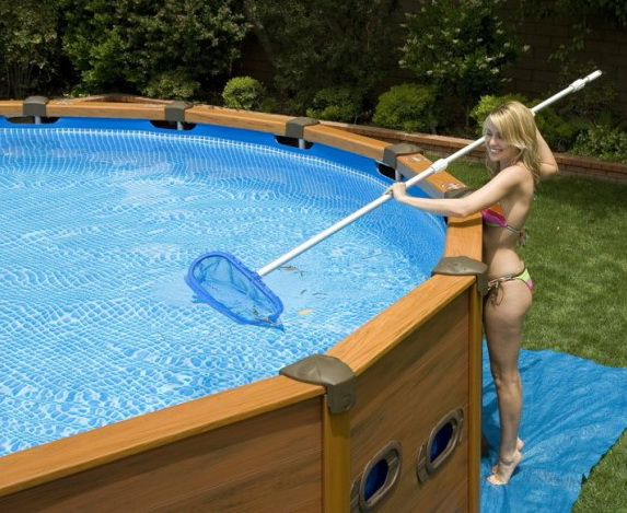 Каркасный бассейн на даче своими руками фото